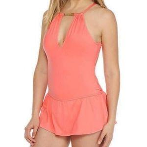 KATE SPADE CRESCENT BAY Swimsuit Dress Apricot M